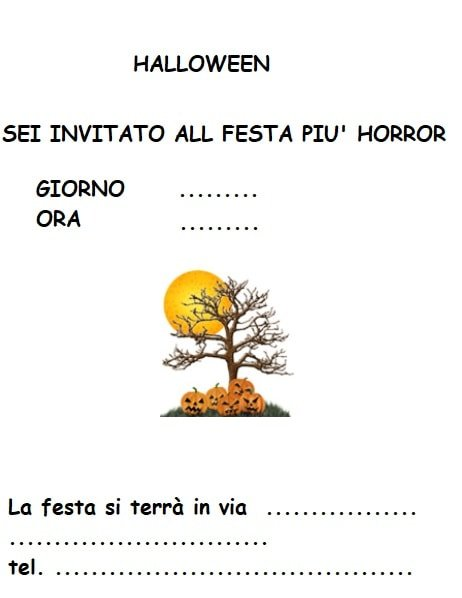 Halloween Biglietti Dinvito Regali E Disegni Da Scaricare E