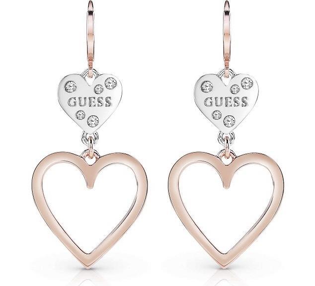 marchi riconosciuti selezione straordinaria colori armoniosi Gioielli Guess: collane, orecchini e bracciali a cuore ...