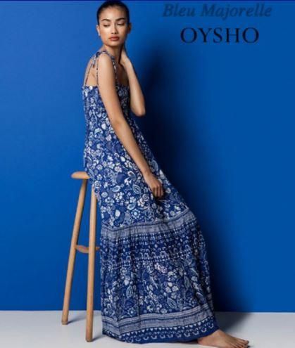 Oysho mare tutto il blu in abiti e costumi: Blue Majorelle