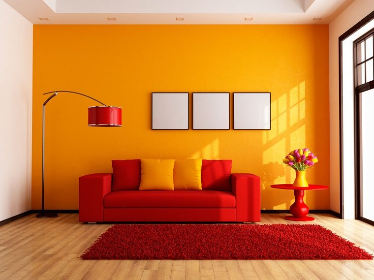 Come arredare con i colori caldi arancio rosso e giallo notizie in vetrina - Colori x pitturare casa ...