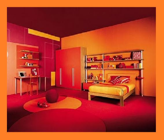 rosso e arancio arredamento