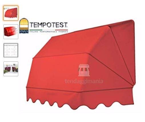 Tenda da sole a cappotta rossa Tessuto Tempotest