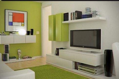 Dipingere un soggiorno piccolo e farlo sembrare ampio