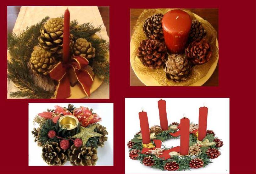 Natale come dipingere le pigne regali decorazioni e ninnoli notizie in vetrina - Decorazioni natale pigne ...