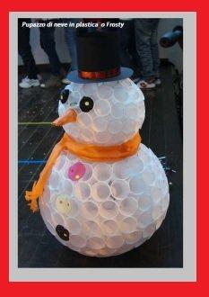 Natale: come fare un Frosty o pupazzo di neve Tutorial con i bicchieri