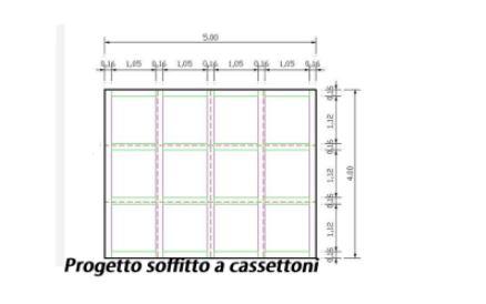 progetto soffitto cassettoni
