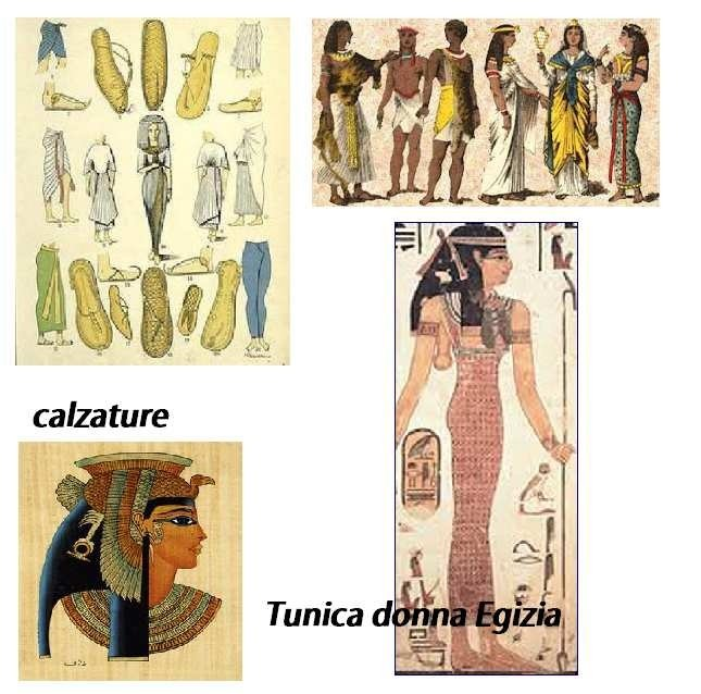 Calzature egizie copricapo egizi – Nemeth copri capo – calzature – abiti –  tunica da donna Kalasiris 647f6df2055