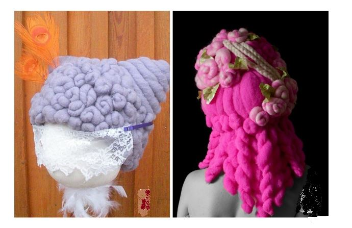 Parrucche in lana per costumi di Carnevale -Parrucche per carnevale fai da te