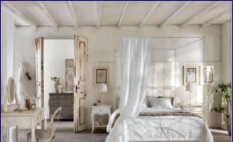 Shabby Chic: camera da letto stile caldo e romantico