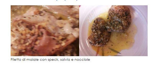 Ricetta domenicale: filetto di maiale con speck e nocciole