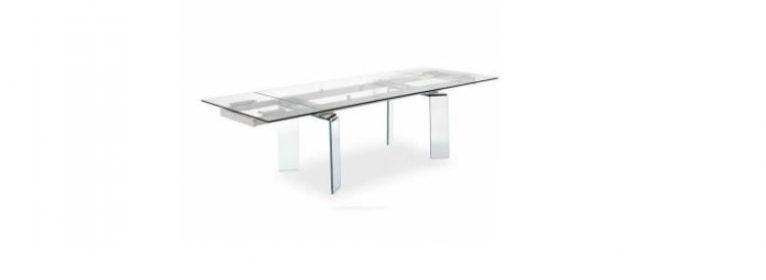 Arredamento tavoli allungabili laccati legno cristallo - Tavoli in cristallo prezzi ...