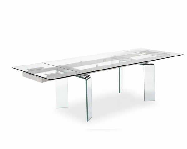 Arredamento tavoli allungabili laccati legno cristallo for Arredamento tavoli
