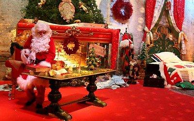 La casa di Babbo Natale castello Terme Tamarici visite a Natale