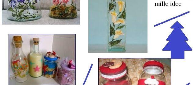 Barattoli, vasi, specchi in vetro decorati: idee fai da te da regalare
