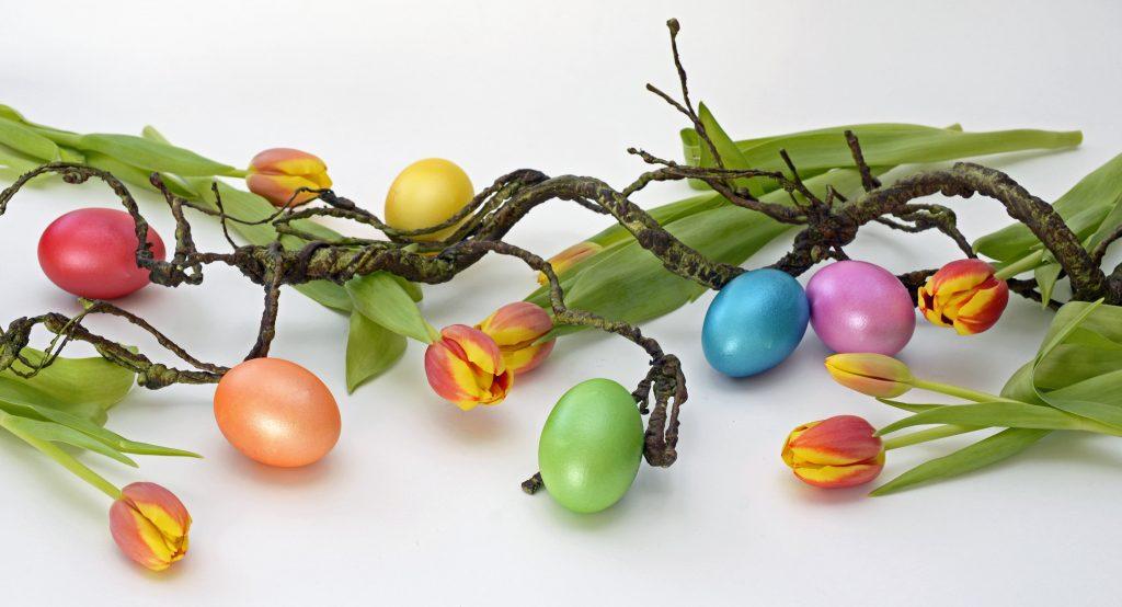 ramo di pasqua con uova