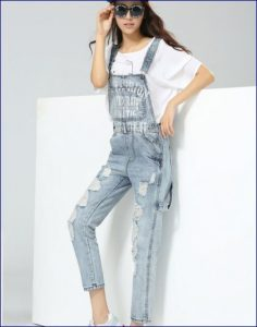 jeans denim salopette