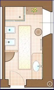 5 idee per strutturare ed arredare un piccolo bagno - Disposizione bagno piccolo ...