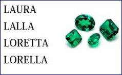 laura,lalla,loretta