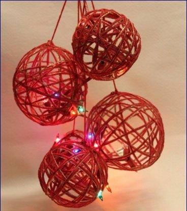 Palle cdi Natale con filo