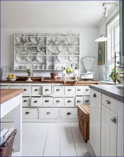 Shabby chic come scegliere pavimenti e pareti i 10 - Colori pareti cucina shabby chic ...
