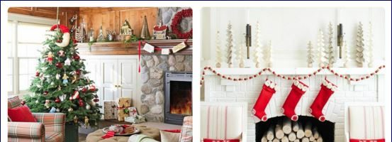 Natale shabby chic e country chic idee in casa