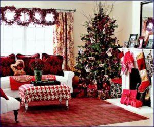 Albero di Natale a parete e a soffitto