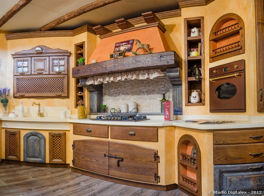 Cucina stile country i 10 migliori consigli per renderla - Tessuti country per cucina ...