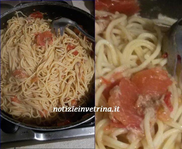 Pasta veloce e gustosa: tonno, pomodorini, alici ed olive