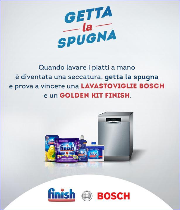 Getta la spugna e partecipa al contest Finish e Bosch