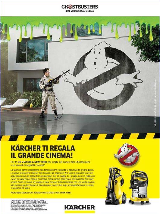 Estate al cinema Ghostbusters con Kärcher idropulitrici e aspirapolveri