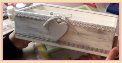 Shabby fai da te: una scatola di legno dipinta
