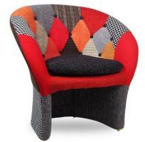 Poltrone di design colorate patchwork e allegria in casa