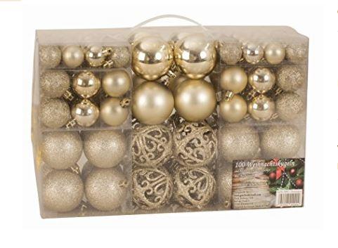 Decorazioni e èalle di Natale in oro eleganti