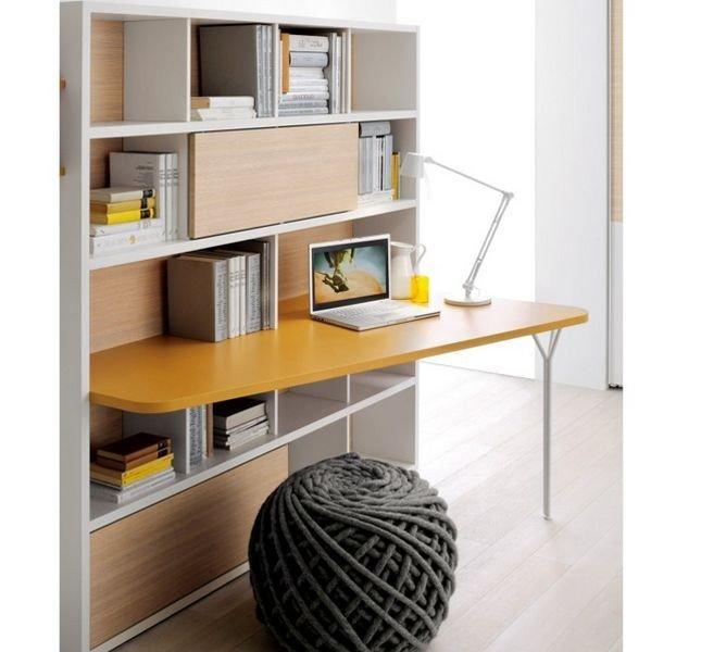 Come creare un angolo studio ufficio in casa o in soggiorno funzionale