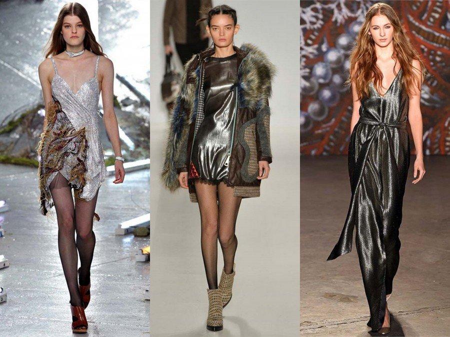 Metal trendy abiti ed accessori di tendenza oro, argento e bronzo