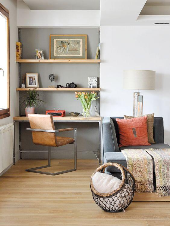 Come creare un angolo studio ufficio in casa o in soggiorno