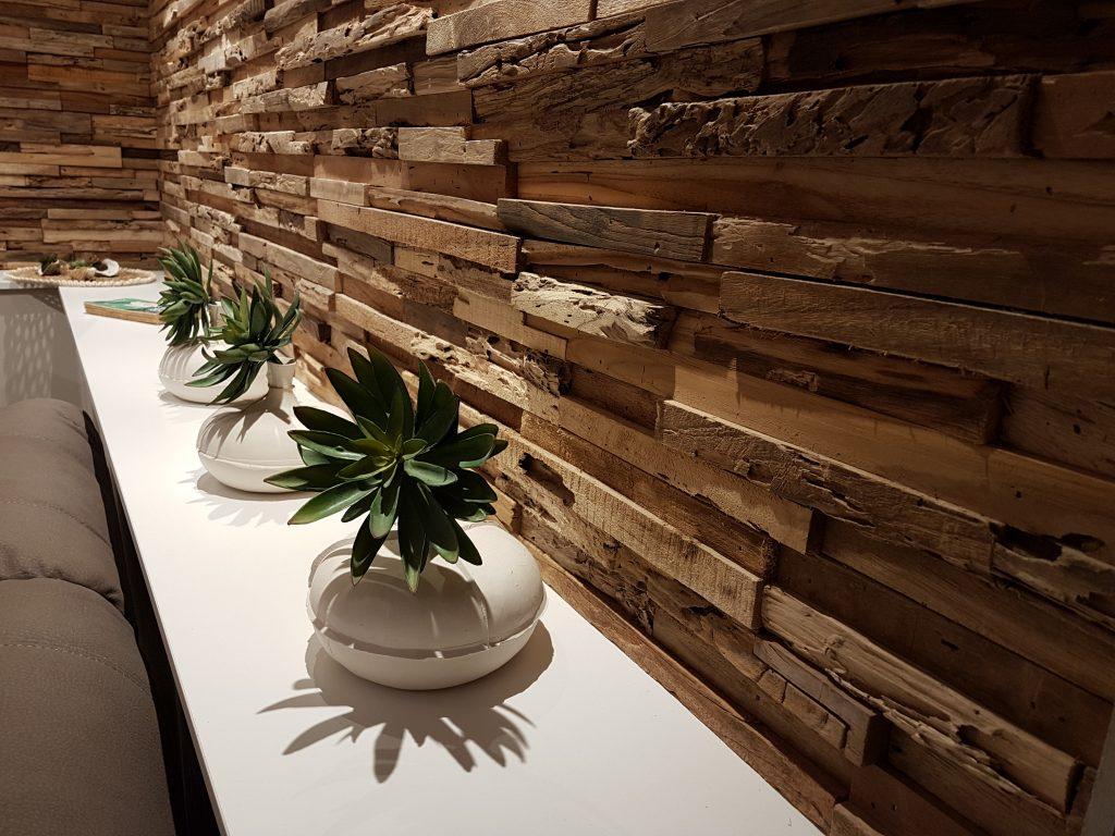 Come caratterizzare una parete con mattoni legno sughero - Parete di sughero ...