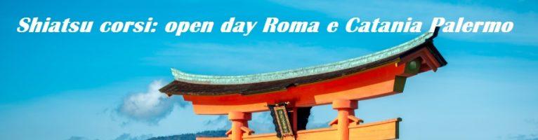 Shiatsu Namikoshi corsi Roma e Catania open day