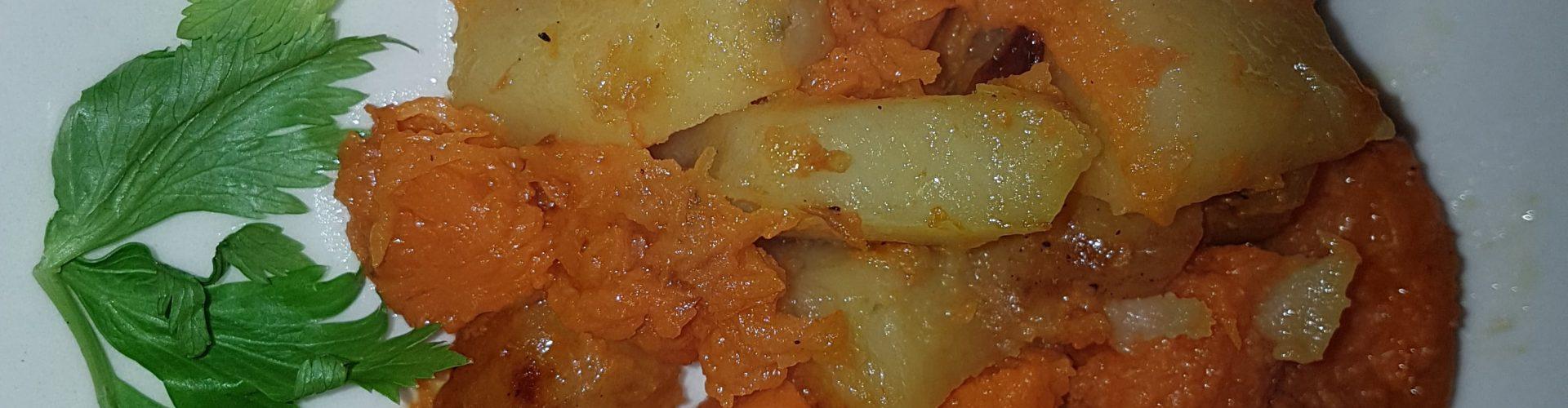 Zucca e patate contorno alternativo colorato
