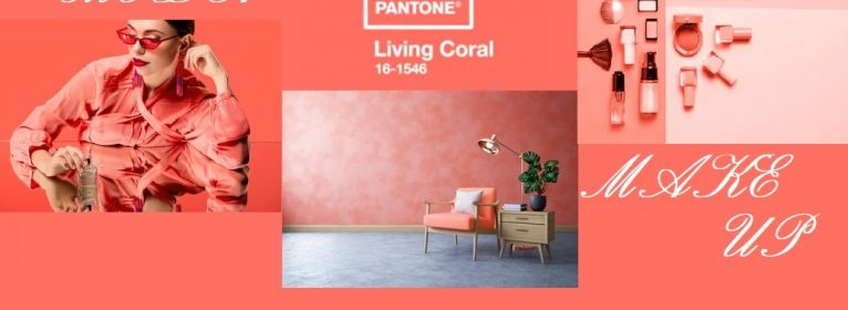 Colore Pantone 2019: Living Coral per arredamento, moda e make up