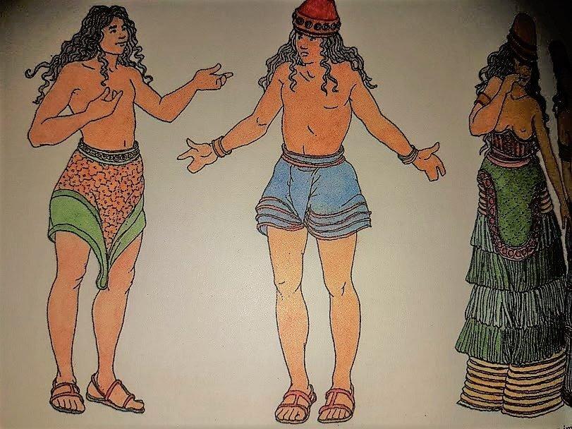 Abbigliamento antica Creta uomini