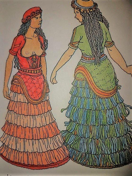 Come vestivano gli abitanti di Creta isola greca felice