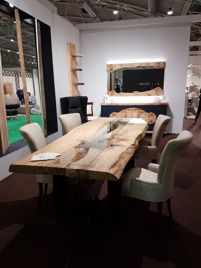 legno arte tavolo legno cristallo