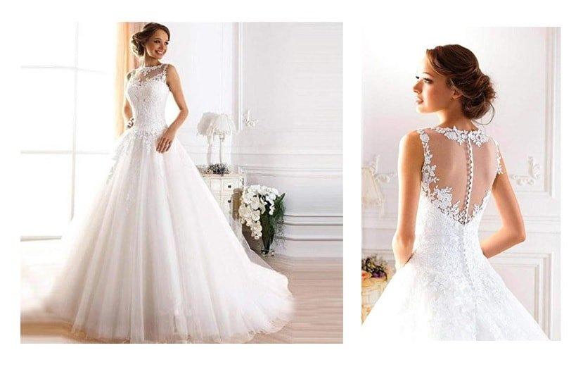 Vestito da sposa elegante e romantico