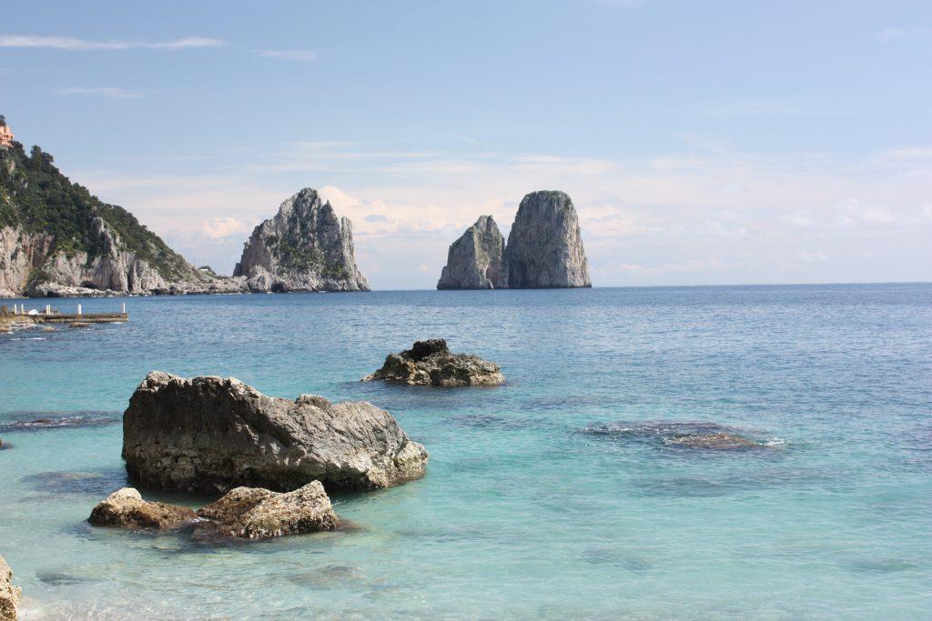 Isola di Capri i faraglioni