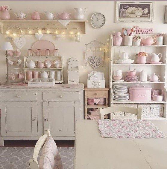 Arredare Una Cucina Shabby Chic.Arredare Bianco E Rosa In Una Cucina Shabby Notizie In Vetrina