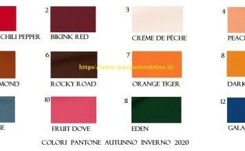 12 colori moda autunno inverno 2020 Pantone