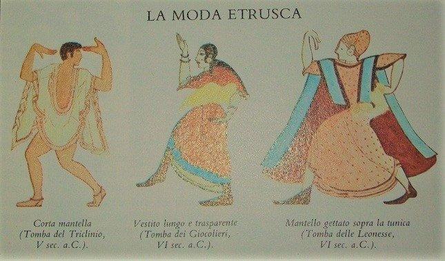 Moda etrusca abbigliamento etruschi