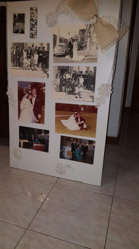 tableau de mariage con foto ricordo shabby chic
