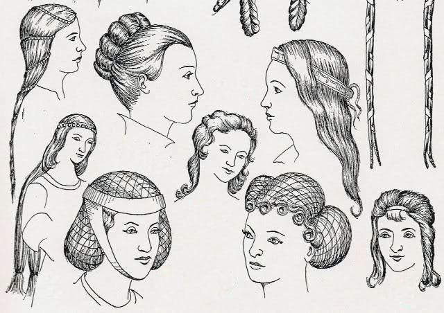 XIII - XIV acconciature capelli